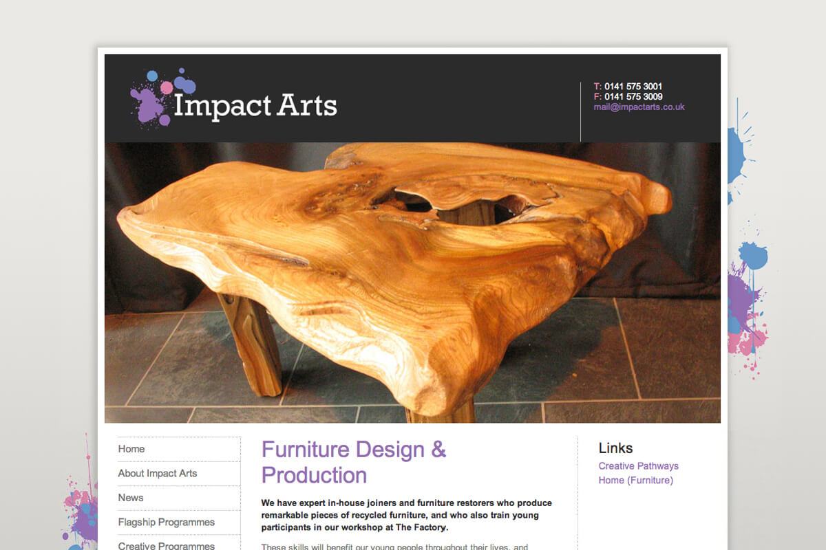 Impact Arts Website